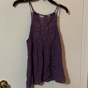 NWT Francescas Purple Smocked Cami